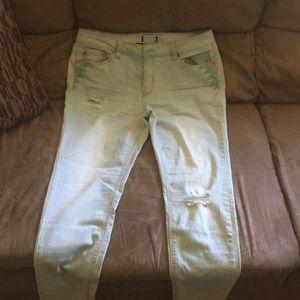 Denim - Size 18 light blue jeans